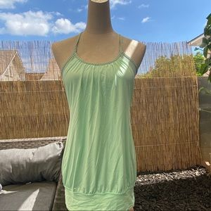 Lululemon mint green top with built in sports bra